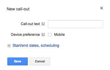 Add Call-out extension