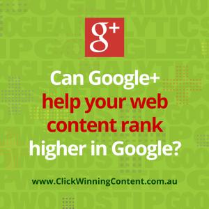 Google plus web content ranking